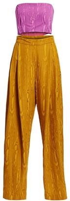 Rachel Comey Assert Colorblock Cutout Jumpsuit