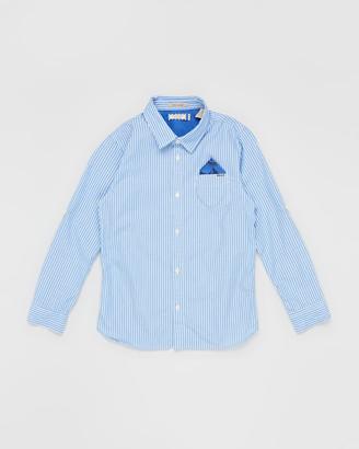 Scotch Shrunk Roll-Up Sleeve Pocket Shirt - Teens
