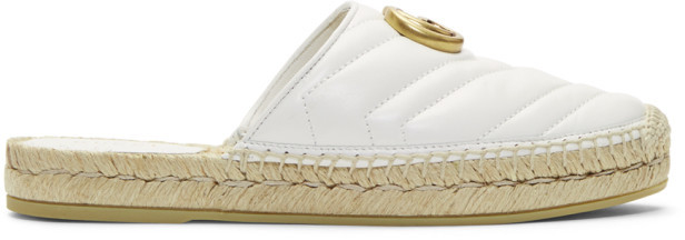 Gucci White Charlotte Slip-On Espadrilles