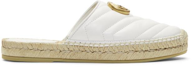 Gucci White Charlotte Slip-On Espadrilles