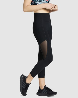 Rockwear - Women's Black Tights - Mesh Pocket Ankle Grazer Tights - Size One Size, 12 at The Iconic