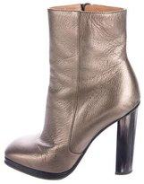 Dries Van Noten Metallic Platform Ankle Boots