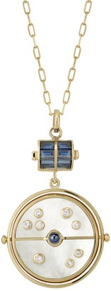 Mother of Pearl Grandfather Compass Necklace