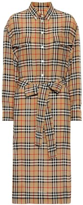 Burberry Check silk shirt dress
