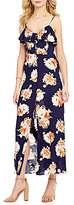 Band of Gypsies Button Front Floral Maxi Dress