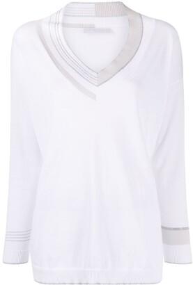 Fabiana Filippi V-neck long-sleeved T-shirt