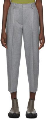 Acne Studios Grey Wool Flannel Trousers