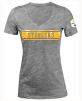 5th & Ocean Women's Pittsburgh Steelers Touchback LE T-Shirt