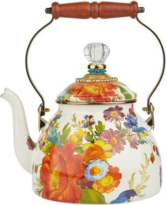 Mackenzie Childs Enamel Flower Market Tea Kettle