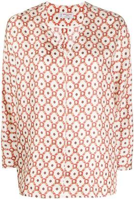Alberto Biani Geometric-Print Silk Blouse