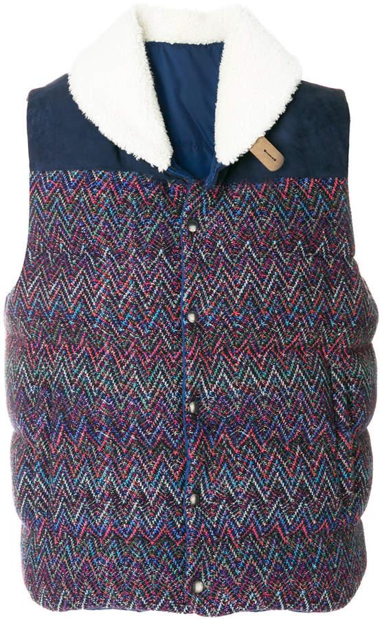 Missoni zig-zag knit shearling gilet