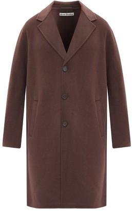 Acne Studios Dali Brushed Wool Overcoat - Dark Brown