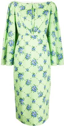 Emilia Wickstead Vestido cape dress
