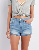 Charlotte Russe Refuge Hi-Rise Roll-Up Shorts