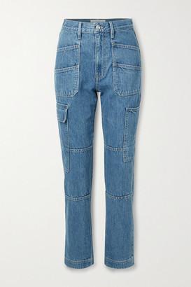 SLVRLAKE Savior High-rise Straight-leg Jeans - Mid denim