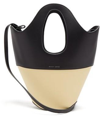 Danse Lente Bi-colour Small Leather Tote Bag - Black Multi