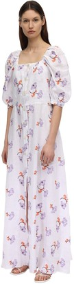 BRIGITTE Embroidered Midi Dress