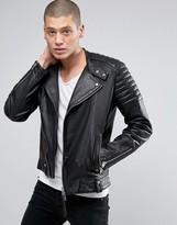 Allsaints Allsaints Leather Biker Jacket
