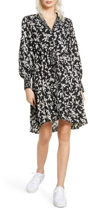French Connection Bruna Floral Long Sleeve Shift Dress