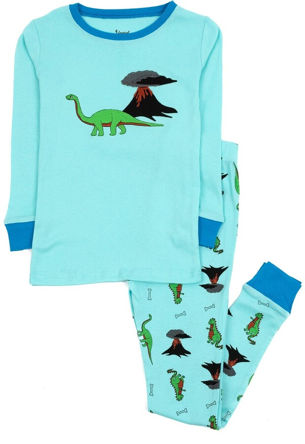 JDO Pajamas for Boys Dinosaur Shark Sleepwear Kids Boy Clothes 4 Piece Pants Set