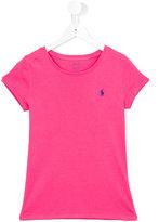 Ralph Lauren embroidered logo T-shirt - kids - Cotton/Modal - 14 yrs