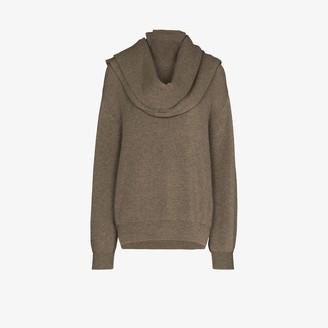 Frankie Shop Ribbed Knit Scarf Sweater