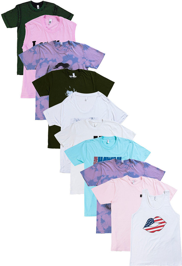 American Apparel Not-So-Perfect Unisex Printed T-Shirt & Tank Grab Bag (10 Pieces)
