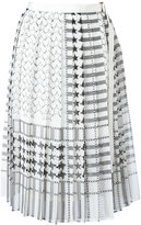 Sacai stars and stripes midi kilt skirt - women - Polyester/Cupro - 2