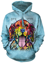 The Mountain Light Blue 'Dog is Love' Hoodie - Unisex