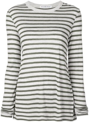 alexanderwang.t horizontal striped T-shirt