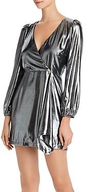 French Connection Draped Metallic Mini Dress
