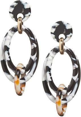 Banana Republic Multi Resin Oval Earrings
