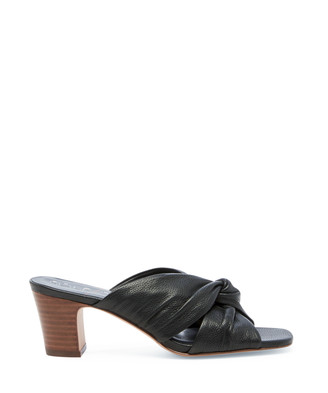 Sole Society Women's Servilia Knotted Sandals Black Size 5 Leather From