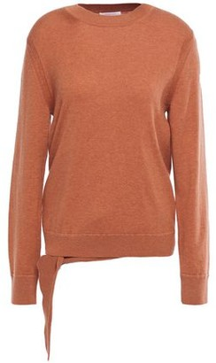 See by Chloe Tie-front Wool And Cotton-blend Sweater
