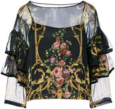 Alberta Ferretti semi sheer blouse - women - Silk/Polyamide - 42
