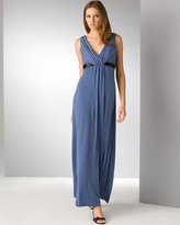 V-Neck Jersey Gown With Ribbon