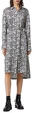 AllSaints Anya Printed Shirt Dress