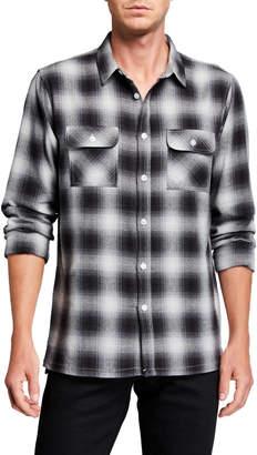 Sovereign Code Men's Long-Sleeve Plaid Sport Shirt
