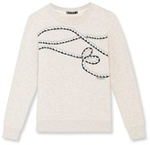 Petit Bateau Womens embroidered sweatshirt