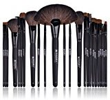 SHANY Studio Quality Natural Cosmetic Brush Set with Faux Leather Pouch, 24 Count