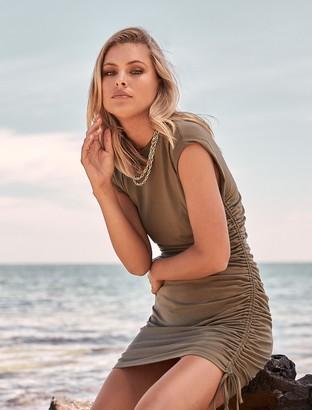Forever New Roxi Extended-Sleeve Mini Dress - Oregano - 10