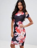 Jessica Wright Bold Floral Print Pencil Dress