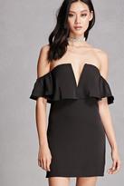 Forever 21 FOREVER 21+ Off-the-Shoulder Mini Dress