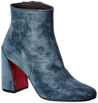 Christian Louboutin Turela 85 Veau Velours Suede Ankle Boot