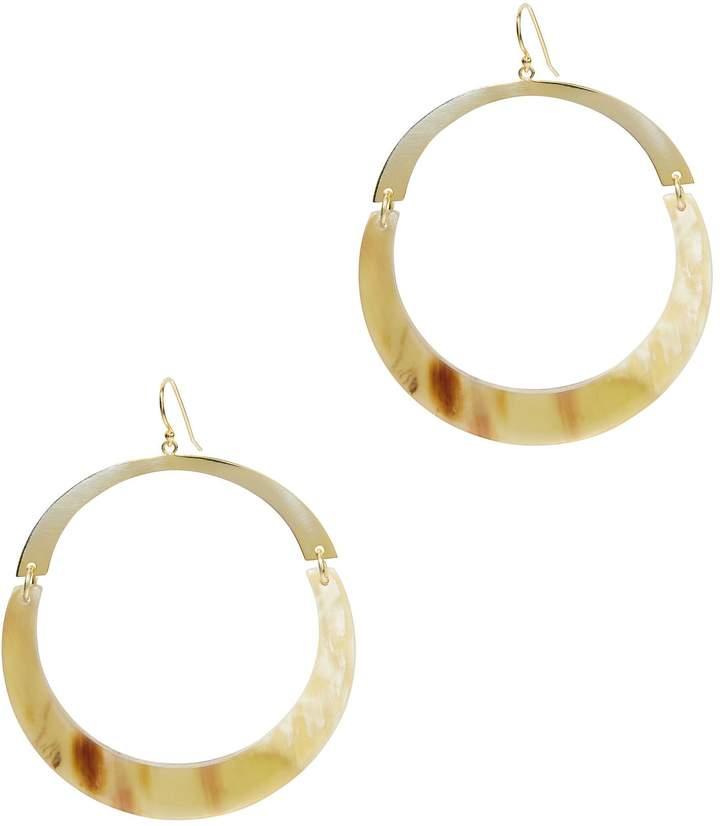Argentovivo Flat Gold Hoops