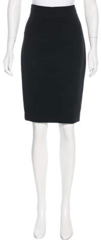 L'Wren Scott Knee-Length Pencil Skirt Black Knee-Length Pencil Skirt