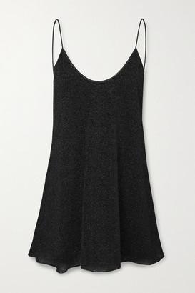 Oseree Lumiere Lurex Mini Dress - Black