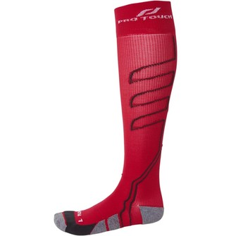 Pro Touch Unisex Compression Full Length Running Socks Red