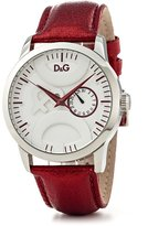 Dolce & Gabbana Men's DW0701 Leather Synthetic with Dial Watch