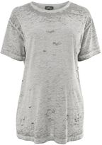 Topshop Maternity acid destroyed t-shirt